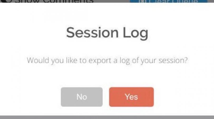 ClassroomQ Feature: Session Log Download