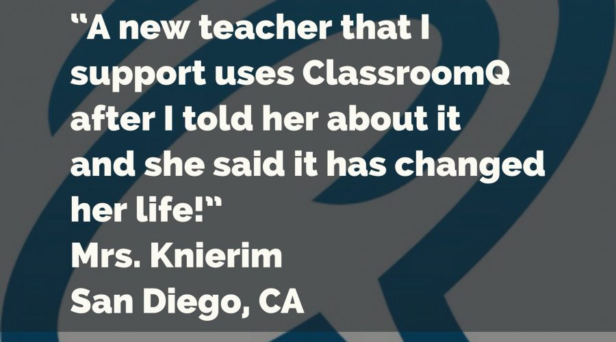 Teacher Testimonial!