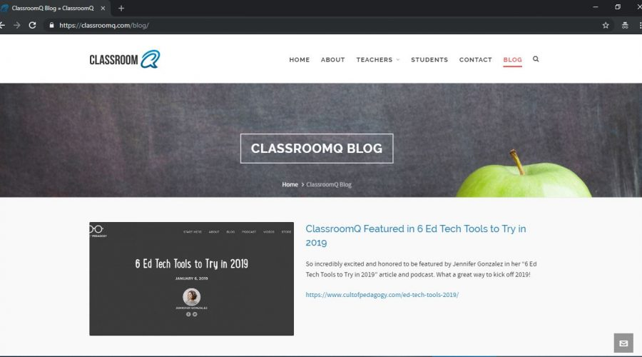 Our new ClassroomQ swag shop is now live!