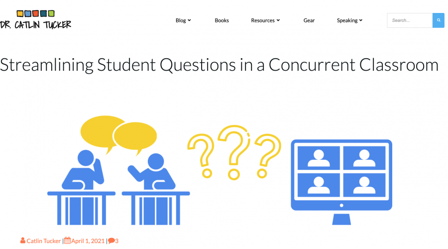 ClassroomQ to streamline questions – By Dr. Catlin Tucker